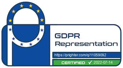 GDPR-Rep.eu certificate of Art 27 representation
